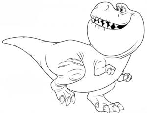 dibujo dinosaurio rex de niño