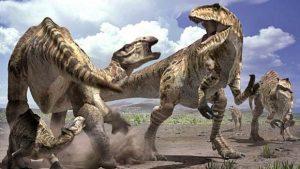 trifulca entre dinosaurios