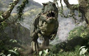 dinosaurio rex en ataque