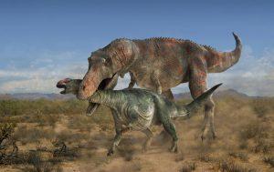 tiranosaurio cazando