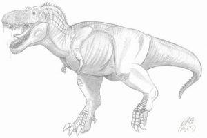 rex adulto pintado a lapiz