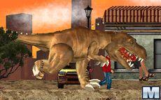 t-rex pelea con humanos