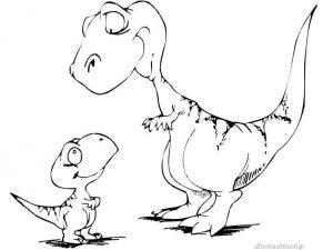 t-rex animados en blanco y negro