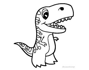 dibujo dinosaurio rex bebe