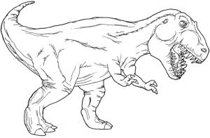 imponente tiranosaurio