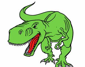 tyranosaurio verde