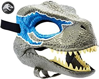 Jurassic World Máscara de dinosaurio Velociraptor Blue, juguetes niños +4 años (Mattel GCV81)