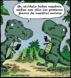 chiste gracioso entre dos dinosaurios